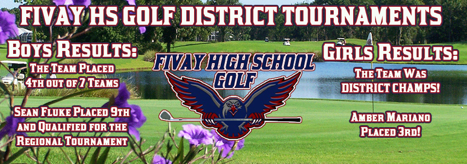 Golf District Play Results