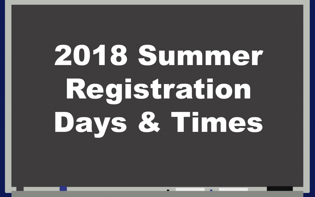 2018 Summer Registration