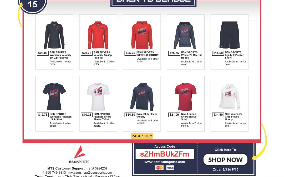 Order Now from the BSN Team Shop!