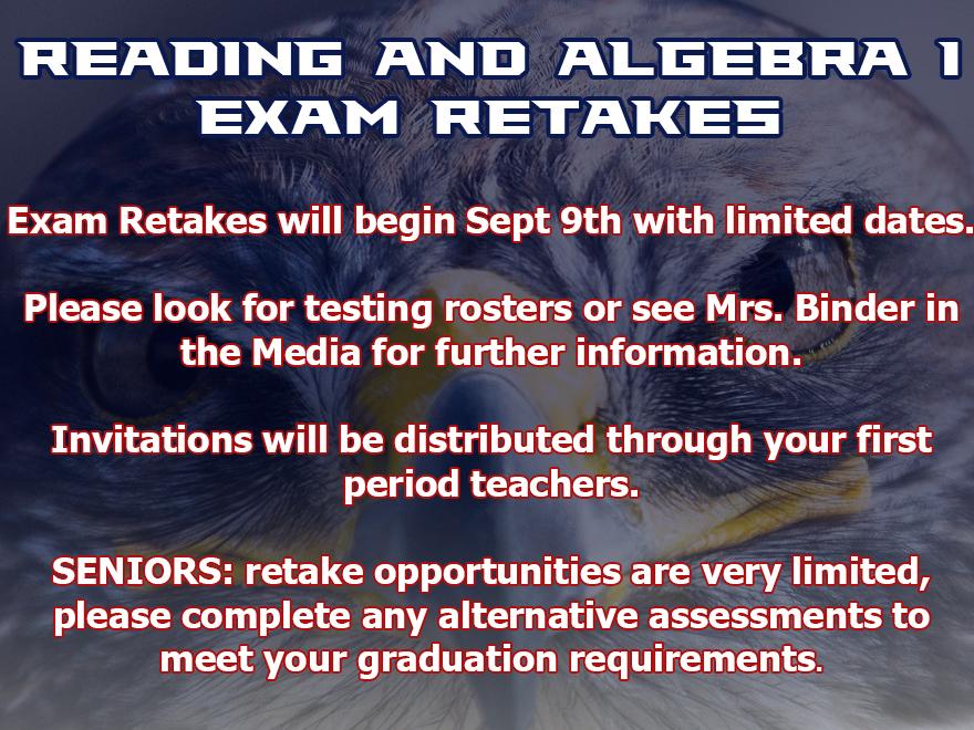 Fall Exam Retakes