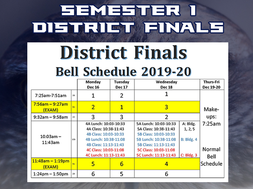Semester 1 District Finals
