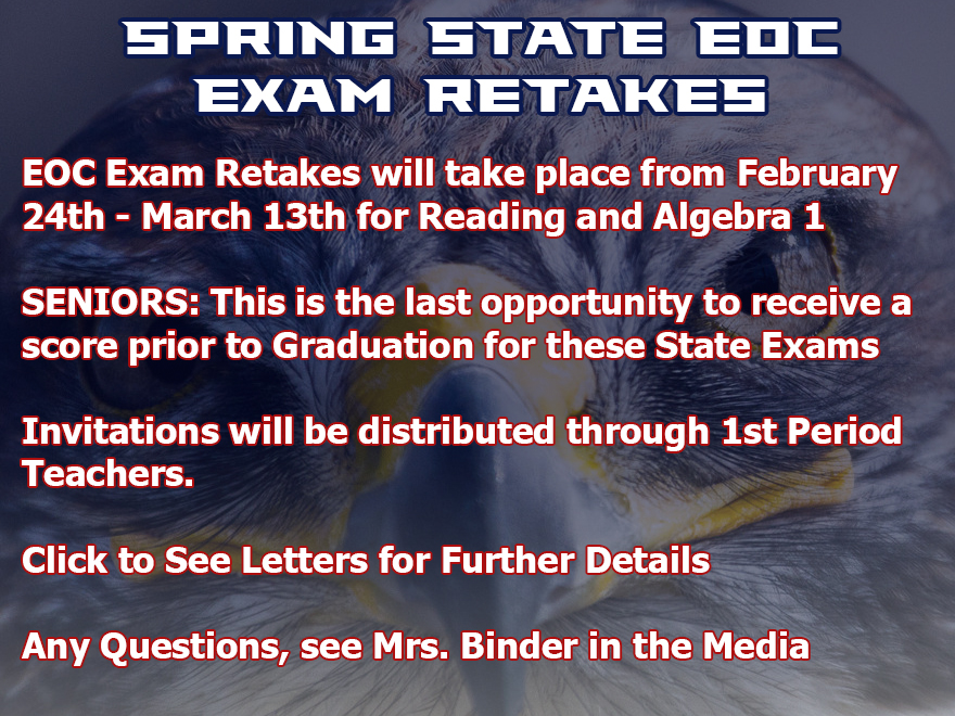 Spring Retake EOC Exams
