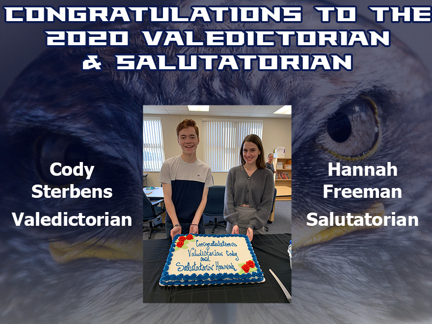 Congratulations to the 2020 Valedictorian and Salutatorian