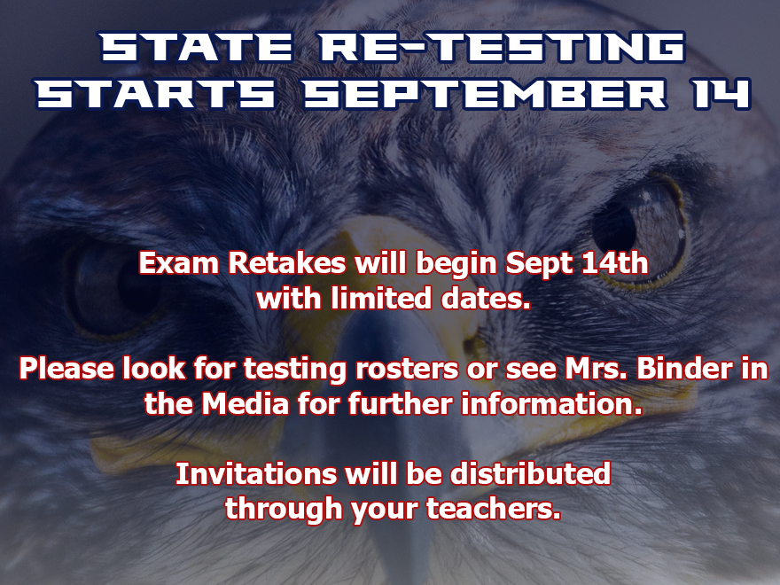 Fall Testing Window Opens September 14th