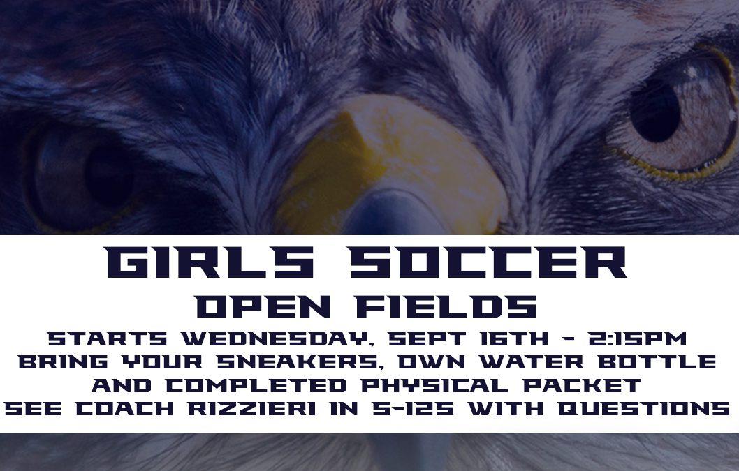 Girls Soccer Open Fields