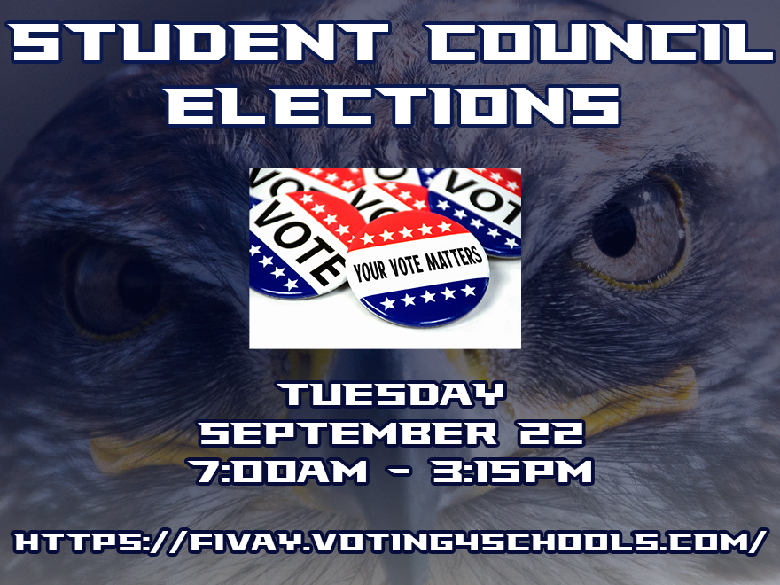 Student Council Voting – Tuesday September 22nd