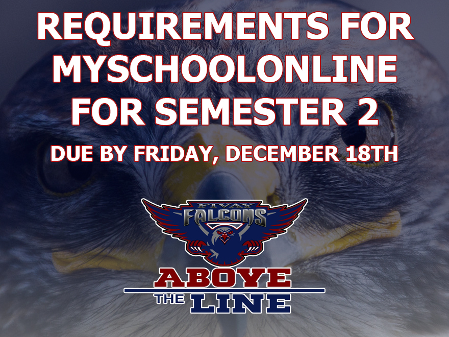 Requirements for MSOL for Semester 2