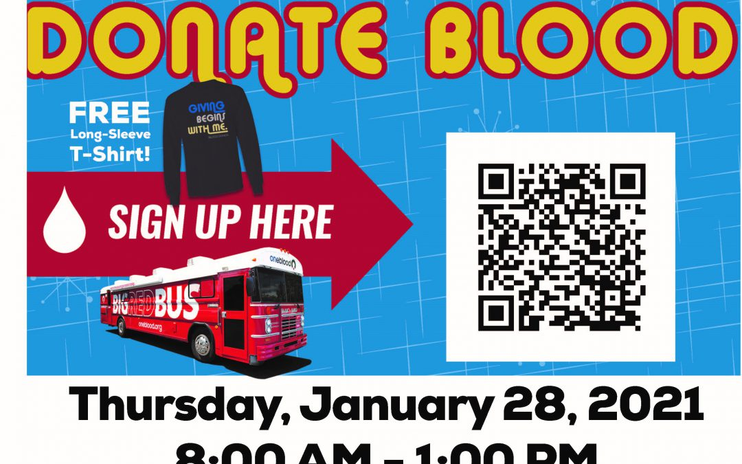 Blood Drive January 28th