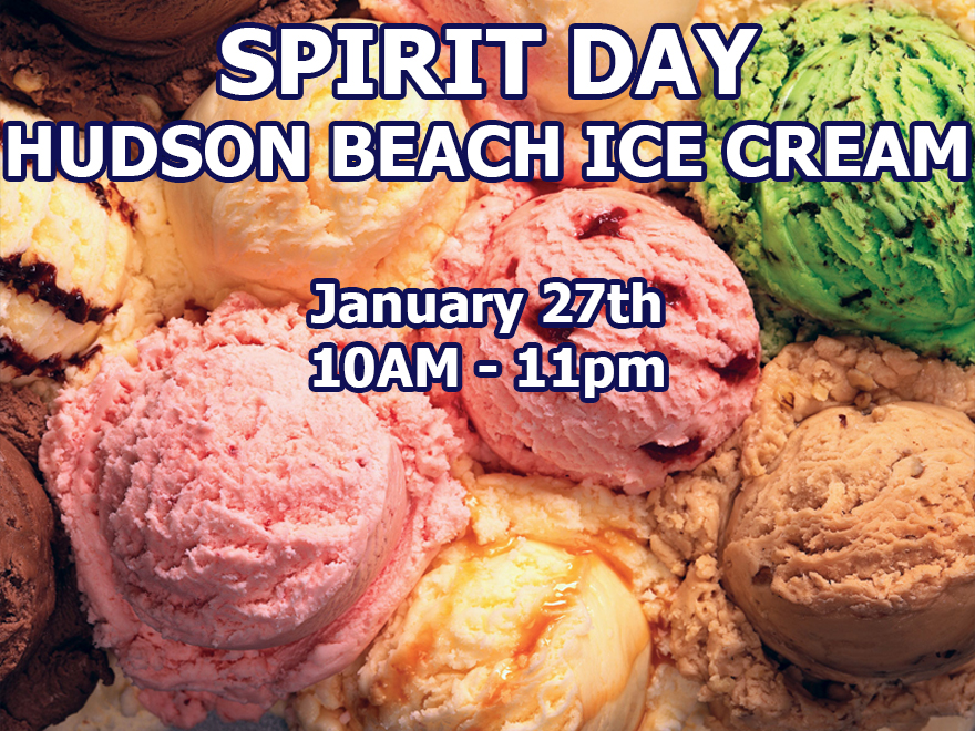 Spirit Day – Hudson Beach Ice Cream – January 27th