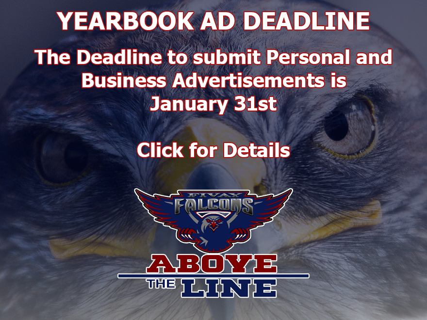 Yearbook Advertisement Deadline January 31st